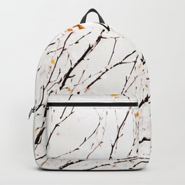 Snowy birch twigs and leaves #society6 #decor #buyart Backpack