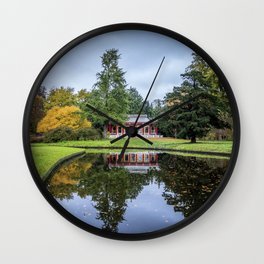 Surrounded by Autumn Wall Clock
