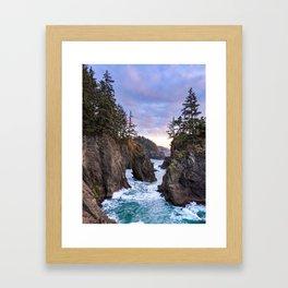 Natural Bridges Sunset Framed Art Print
