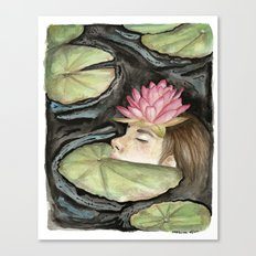 Heavy Crown watercolor Canvas Print