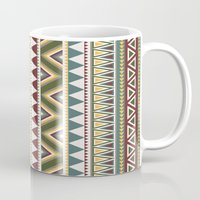 aztec Mugs featuring Aztec by Dianne Delahunty