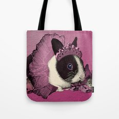 Pink Bunny Princess Print Tote Bag