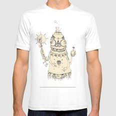 High Mr Meatbell Mens Fitted Tee SMALL White