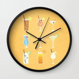 Mixed Drinks Wall Clock