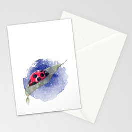 Ladybug in the night Stationery Cards