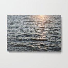 A Glint of Sun on Buffalo Lake Waves Metal Print