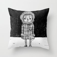snowgirl Throw Pillow