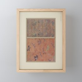 Verneuil - Japanese paper and fabric designs (1913) - 38: Butterflies and flowers Framed Mini Art Print