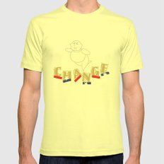 change Mens Fitted Tee Lemon SMALL