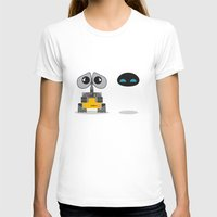 wall e T-shirts featuring Wall-E and Eve by Steph Dillon