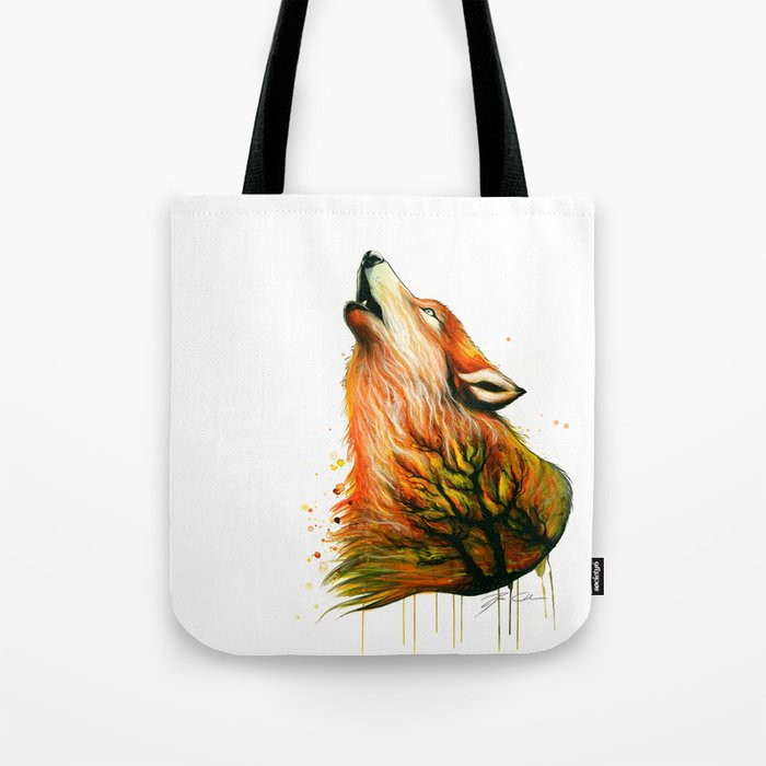 -The burning Forest- Tote Bag