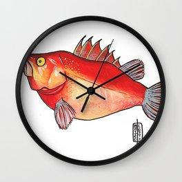 Pesce intrepido Wall Clock