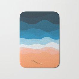 The Lone Surfer | Aerial Bath Mat