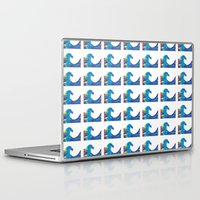 hokusai Laptop & iPad Skins featuring Hokusai Rainbow_Bs by FACTORIE
