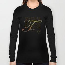 Sign Language for Taurus Long Sleeve T-shirt