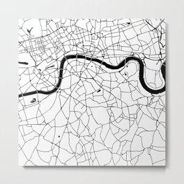 London Minimal Map Metal Print