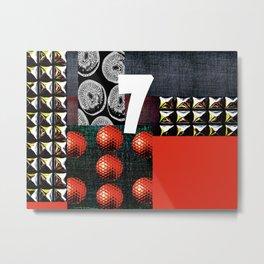 RED #THE 7 SERIES Metal Print
