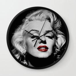 Marilyn (Red Lips) Wall Clock