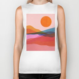 Abstraction_OCEAN_Beach_Minimalism_001 Biker Tank