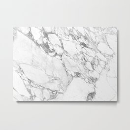 Arabescatto Marble Metal Print