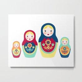 Matryoshka Dolls Metal Print