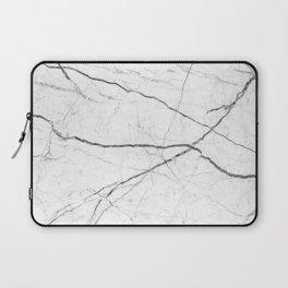 preppy minimalist modern chic grey white marble Laptop Sleeve