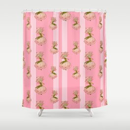 Parasol Pink Vintage Shower Curtain