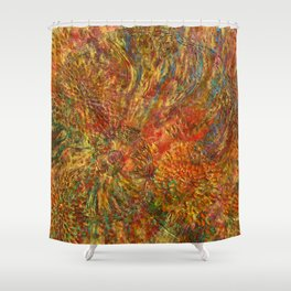 When love is painting... Shower Curtain