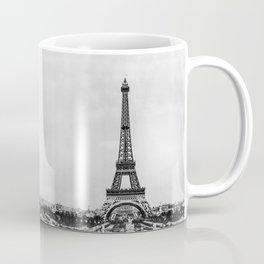 Eiffel tower in B&W with painterly effect Coffee Mug