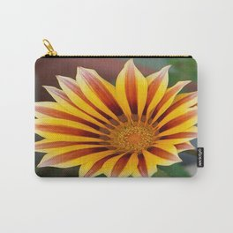 Single Flower Close Up Gazania Red Stripe Carry-All Pouch