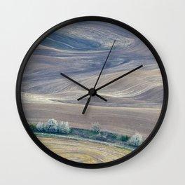 Palouse Abstract II Wall Clock