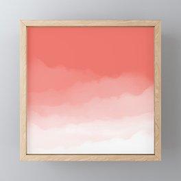 Living Coral Watercolor Ombre (Pantone Living Coral) Framed Mini Art Print