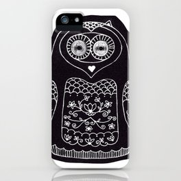 owl with glowing eyes iPhone Case