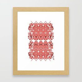 Red Lace Royshay  Framed Art Print