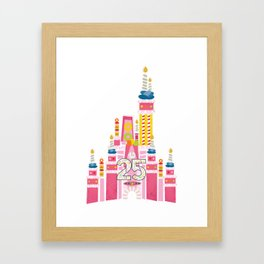 25th Birthday Magic Cake Castle Framed Art Print