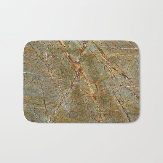 Forest Green Marble Bath Mat