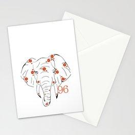 96 Elephants Stationery Cards