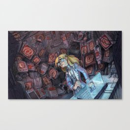 Code Romantic: Mina Poster Canvas Print