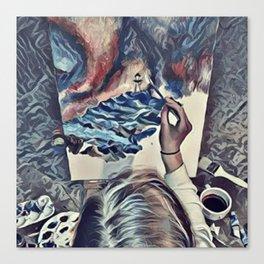 The Universe Inside My Head (Overhead) Canvas Print