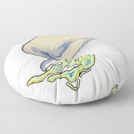 Humpback whale jump Floor Pillow