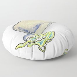 Humpback whale jump Floor Pillow