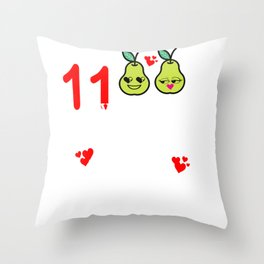 11 Years Great Pear Eleventh Anniversary graphic Throw Pillow
