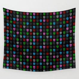 Petrol head pattern black Wall Tapestry