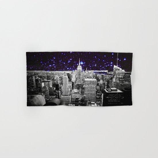 New York City Indigo Stars Hand & Bath Towel