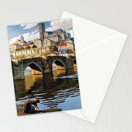 Limoges, French Travel Poster Stationery Cards
