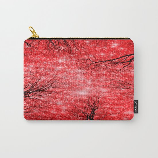 Black Trees Red Space Carry-All Pouch