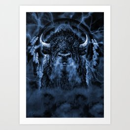 SPIRIT BUFFALO Art Print
