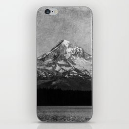 Mt Hood Black and White Vintage Nature Photography iPhone Skin