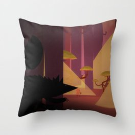 Little Red Riding Hood And The Wolf Throw Pillow