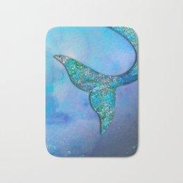 Sparkly Mermaid Tail Fin Bath Mat